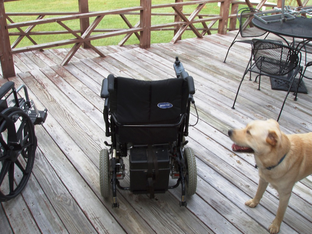 Sold Power Wheel Chair Invacare Two Battery Power Wheel
