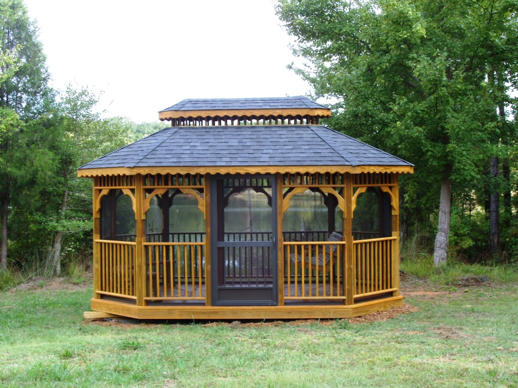 Amish built gazebos for Built in gazebo
