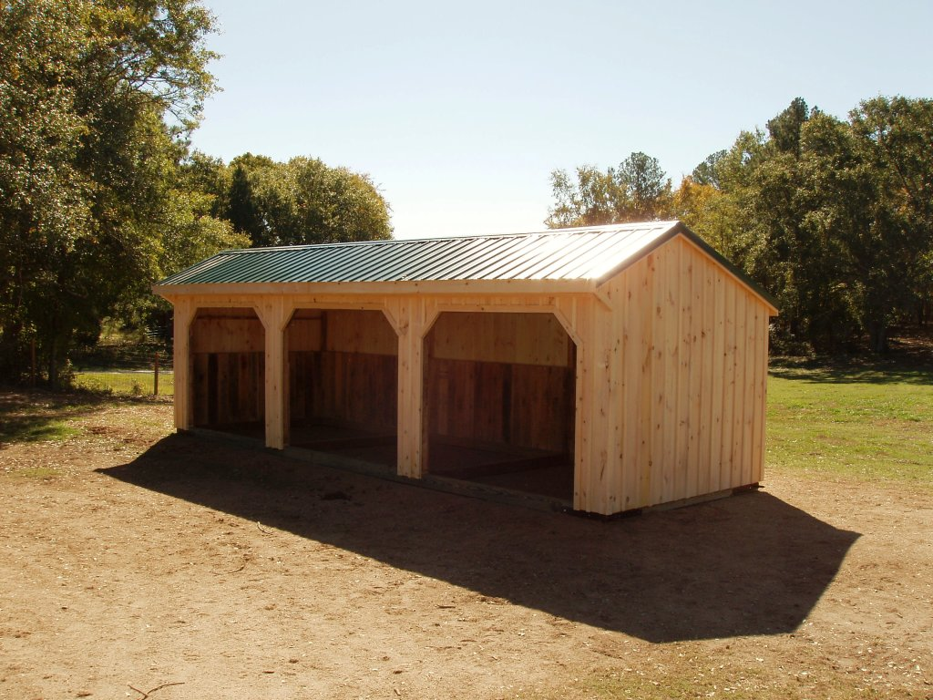 Metal Barn with Shed Roof