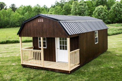 Heritage Storage Shed, Jackson Porch Shed, WoodTex ...